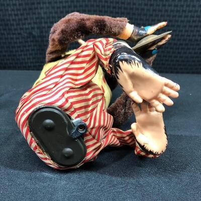Vintage Early Edition JOLLY CHIMP Creepy Mechanical Cymbal Monkey