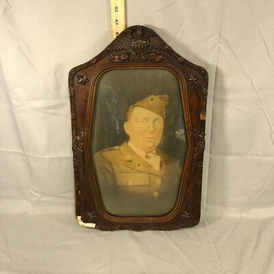 Lot 1 - Framed Military Soldier Print