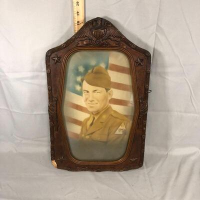Lot 2 - Framed Military Soldier Print
