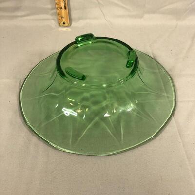 Lot 5 - Uranium/Vaseline Console Bowl