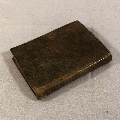 Lot 11 - Embossed Leather Miniature Notebook