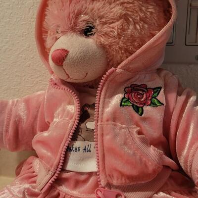 Lot 111: Pre Owned BUILD A BEAR Plush Pink Bear