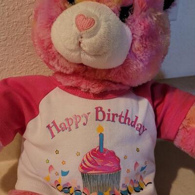 Lot 114: Pre Owned BUILD A BEAR Happy Birthday Plush Bear