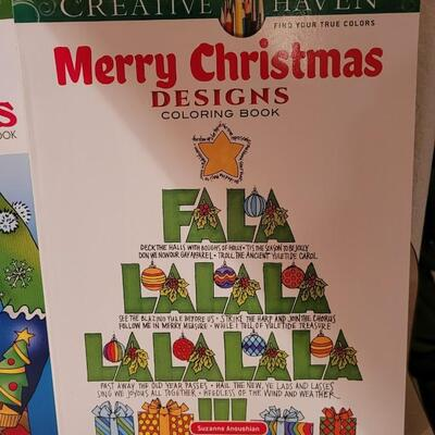 Lot 172: Assorted NEW Coloring Books  + Christmas Cats