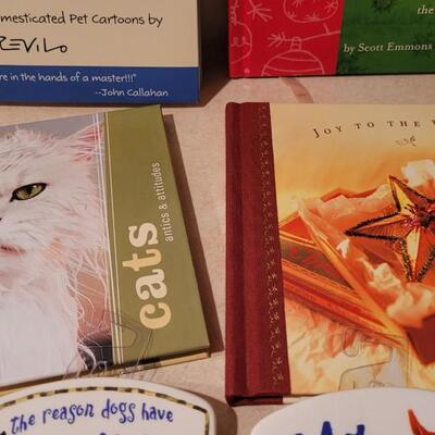 Lot 177: New Hallmark Cat Magnets + Books