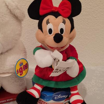Lot 180: Rocking Minnie Mouse and Prayer Bear