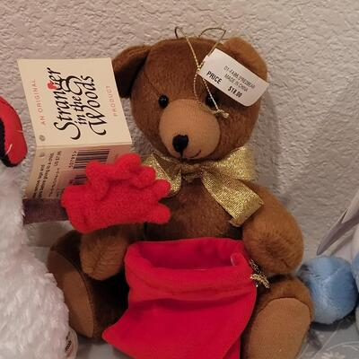 Lot 188: Christmas Plushies - 2 with Gloves for Gift