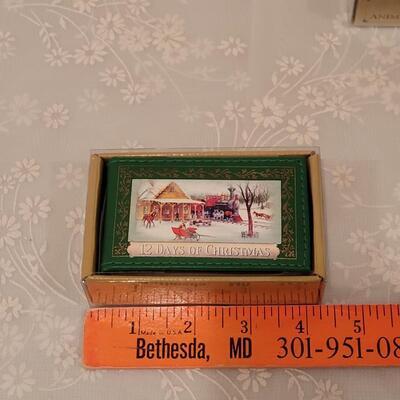 Lot 190: (3) Christmas Music Boxes