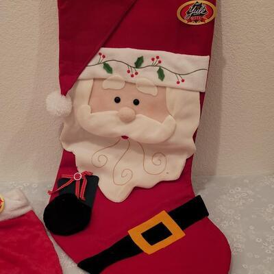 Lot 201: Extra Large Stocking, Soft Average Stocking and Christmas CD