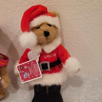 Lot 205: Boyd's Bears Santa Bear and Cupcake Bear