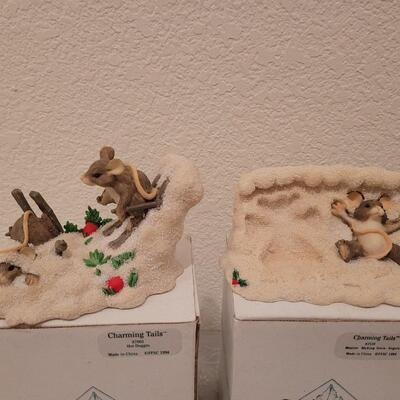 Lot 206: (2) Charming Tails Figurines
