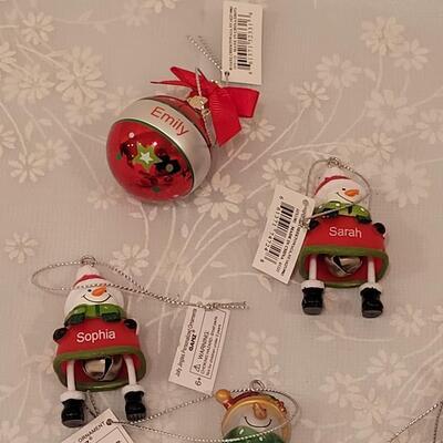 Lot 210: Snowman Christmas Ornaments