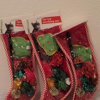 Lot 219: Cat Stockings with Toys
