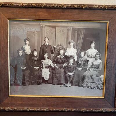 #5 Victorian Family Photo, Framed