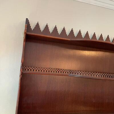 #15 Vintage Mahogany Wall Shelf