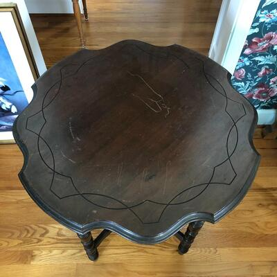 Lot 3 - Dark Wood Side Table LOCAL PICK UP ONLY