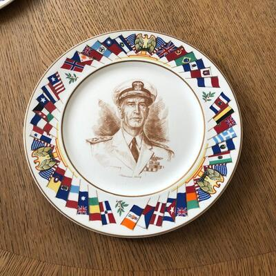 Lot 14 - Allied Nations Commemorative Plate Admiral King