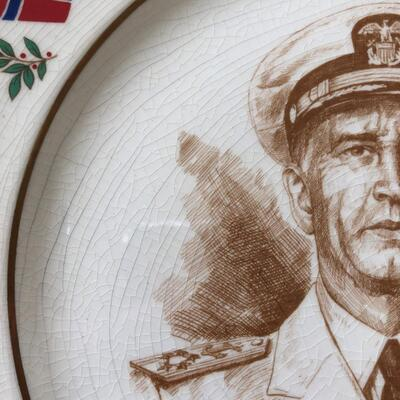 Lot 15 - Allied Nations Commemorative Plate Admiral King