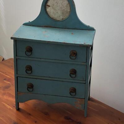 Lot 19 - Antique Blue Doll Dresser
