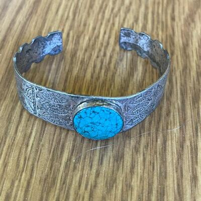 Sterling and turquoise cuff braclet
