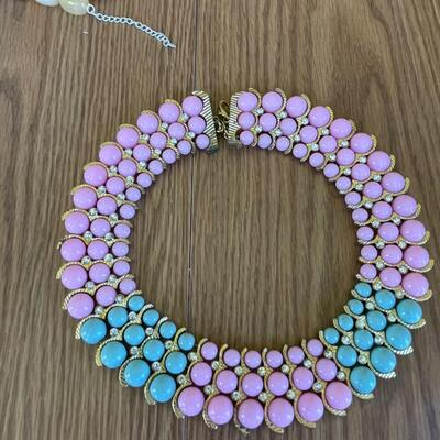 Vintage runway style necklace