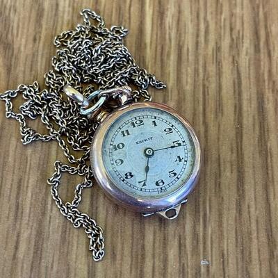 Swiss pocket watch & chain