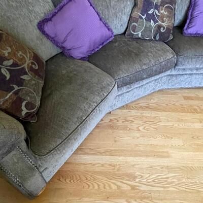Lovely curved couch, clean and modern