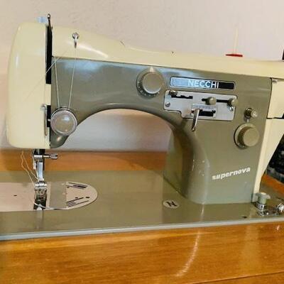 Vintage Necchi Supernova Sewing Machine & Cabinet