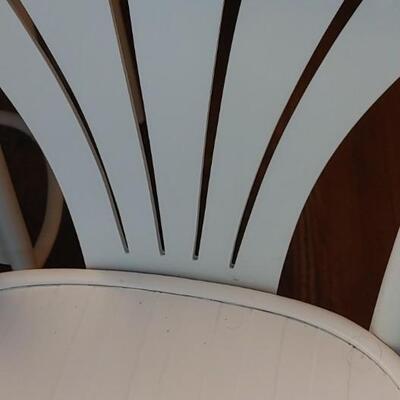 #2 (3) Wonderful White Wooden Bar Stools