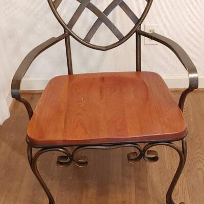 #1 Keller Ornate Wood & Wrought Iron Table & Chairs