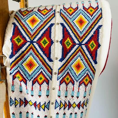 Lot 3  Native American Northern Plains Indian Fully Beaded Contemporary Cradle Board