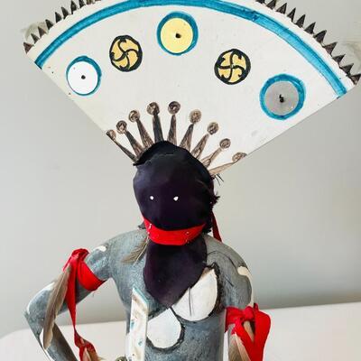 Lot 8  Vintage Set Native American Apache Crown Spirit Dancers Large Kachinas Dolls