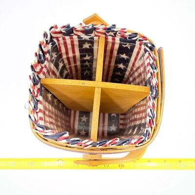 LONGABERGER 1995 ALL AMERICAN CARRY ALONG DIVIDED BASKET