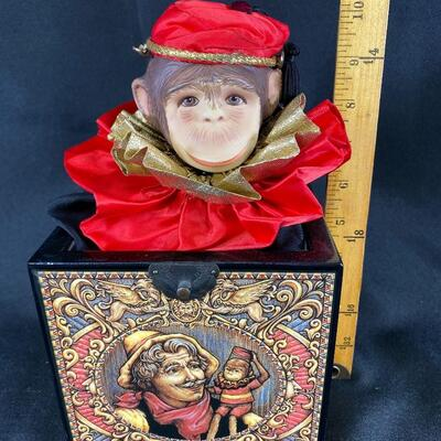 Peppino Limited Edition Musical Monkey Jack in the Box by Faith Wick