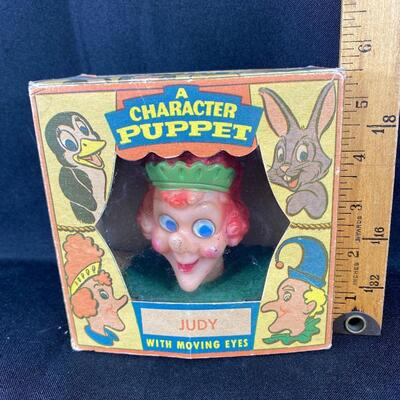 Vintage Peter Puppet Playthings Character Puppet Judy Hand Puppet in Original Box