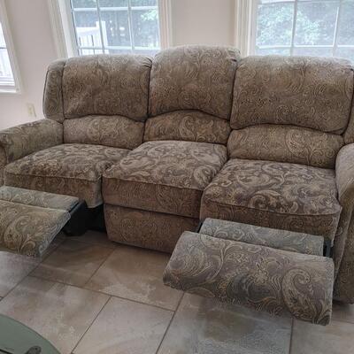 #4 Large Plush Double Reclining Sofa