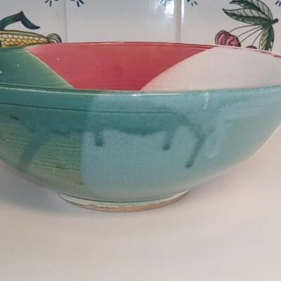 #8 Large Sandra Miller Pottery Bowl