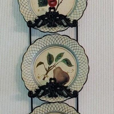 # 9 (4)  Raymond Waites Designer Plates & Cast I Hangers