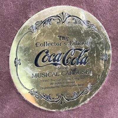 Coca Cola 1997 Franklin Mint Musical Carousel