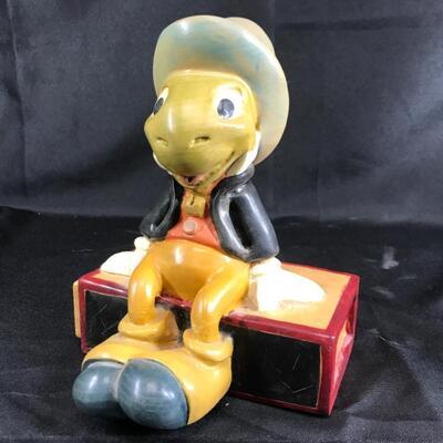 Pinocchio's Jiminy Cricket wood Carving Walt Disney Limited Figurine Statuette