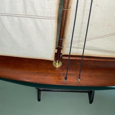 #11 Handsome Wooden Pond Sailboat