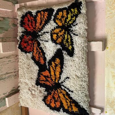 Yarn Art Butterfly wall hanging