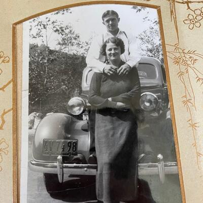 Vintage photo album full of vintage photos