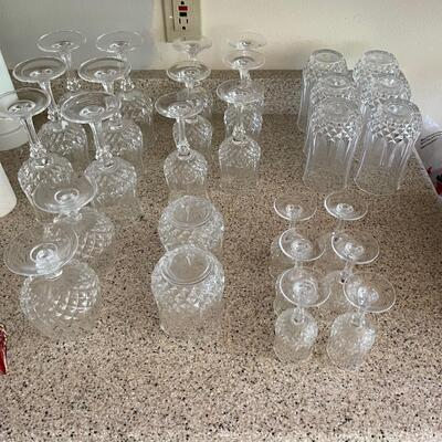 28 piece glass set / thick walled / higher end set