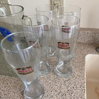 6 beer glass set