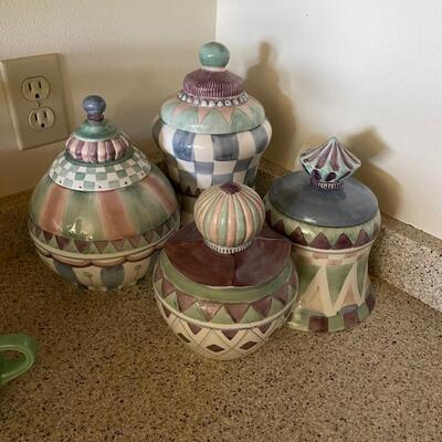 Kitchen Canister set / 4 piece