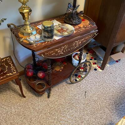 Antique Tea Cart / double drop-leaf