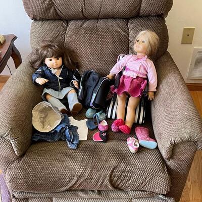 2 American Girl dolls + extras