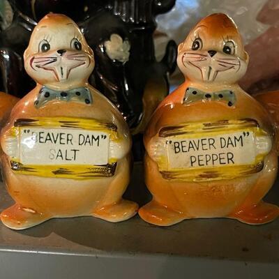 Beaver Dam Salt & Pepper shakers