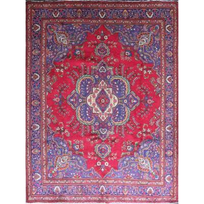 Persian Tabriz Vintage Persian Rug 12'9